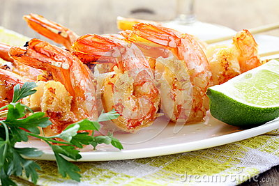 Ready to eat grilled shrimp