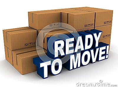 ready to move Stock Photo