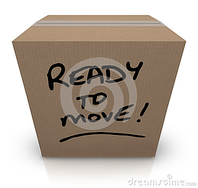 Free Ready To Move Cardboard Box Moving Relocation Royalty Free Stock Photography - 27367327