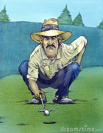 Ready to putt