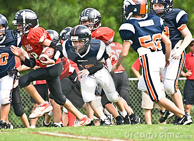 Ready To Tackle Little League Football Editorial Stock Photo