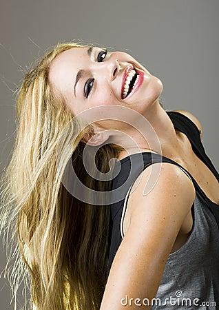 Real beatuiful girl smile