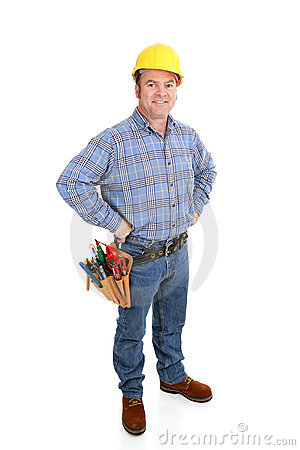 Free Real Construction Worker - Confident Royalty Free Stock Image - 4160836
