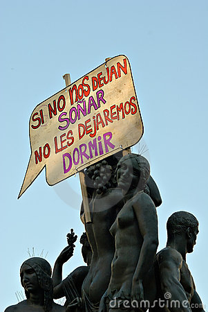 Real democracy now, Barcelona, Spain Editorial Image