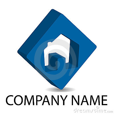 Real Estate 3D Logo - Blue Royalty Free Stock Photos - Image: 13179168