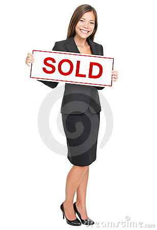 Free Real Estate Agent Isolated On White Background Stock Image - 17132611