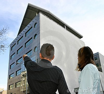 Real estate agent showing flat location