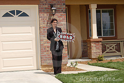Real Estate Agent - Sold Sign