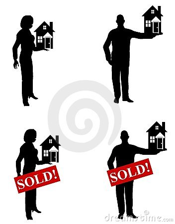 Real Estate Agents Holding Houses
