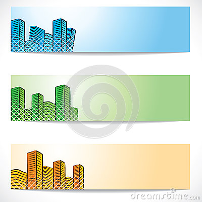 Free Real Estate And Building Website Header Royalty Free Stock Photo - 29362715