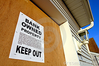 Real Estate Bank Owned Foreclosure Poster on House