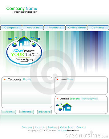 Real Estate Business web site template