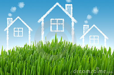 Real estate concept with houses