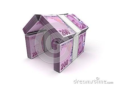 Real Estate Concept Turkish Lira
