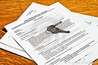 Real Estate Contract with Keys