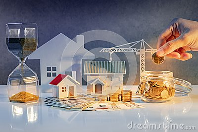 Real estate development, Construction business investment Stock Photo