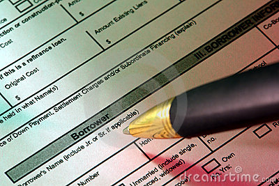 Real Estate Home Loan Application and Ink Pen