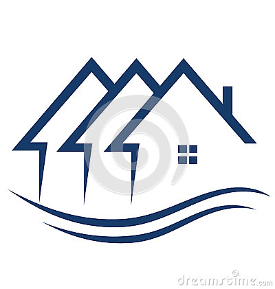 Free Real Estate Houses Logo Royalty Free Stock Photo - 26986595