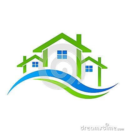 Free Real Estate Houses Logo Stock Photo - 33199870