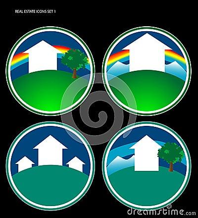 Real Estate Icon Set 1