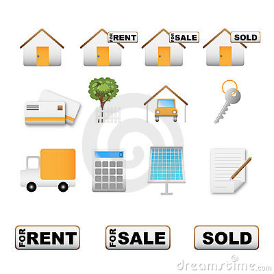 Real Estate Icons Stock Photos - Image: 13871923