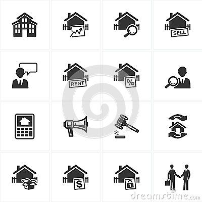 Free Real Estate Icons Royalty Free Stock Images - 25396609