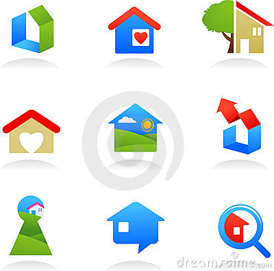 Real estate icons / logos