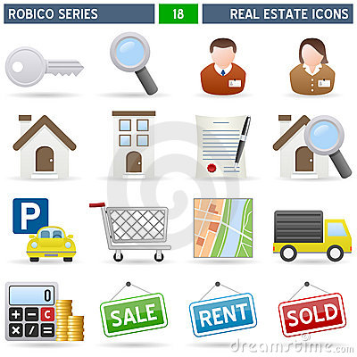 Free Real Estate Icons - Robico Series Royalty Free Stock Photos - 13899548