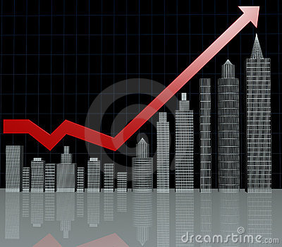 Real Estate Investment Chart Royalty Free Stock Photos - Image: 8879308
