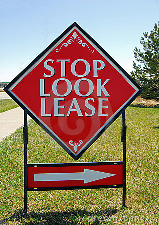 Real Estate lease sign