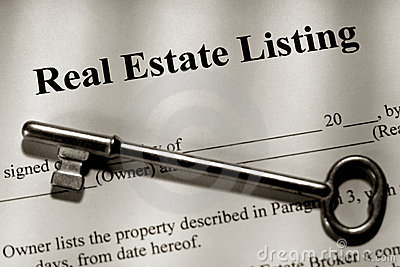 Real Estate Listing Contract and Old House Key