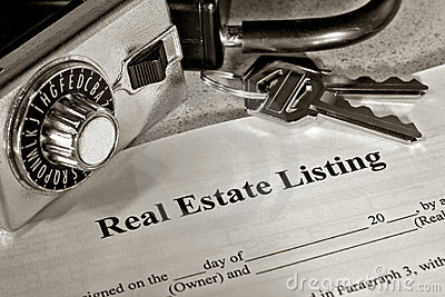 Real Estate Listing Contract and Realtor Lock Box
