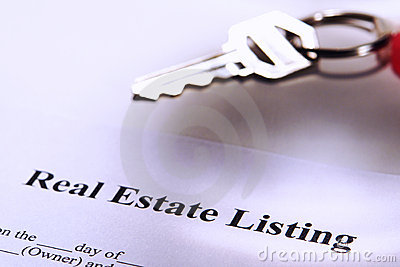 Real Estate Listing Contract and Resale House Key