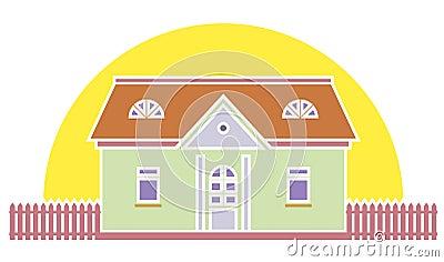 Real estate llustration