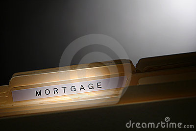 Real Estate Loan Mortgage Title on File Folder Tab