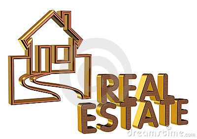Real Estate Logo 3D brick face