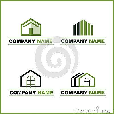 Real estate logo - green