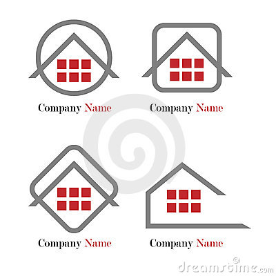Real estate logo - red and grey