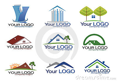 Real estate logo set/eps8