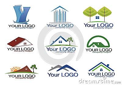 Real estate logo set/eps8