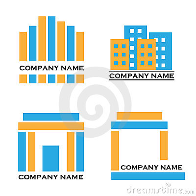 Real estate logos - blue and orange