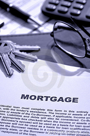 Real Estate Mortgage Document on Lender Desk