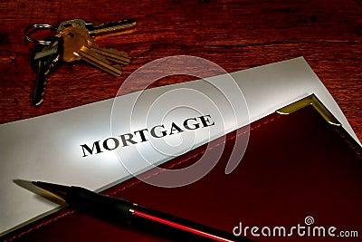 Real Estate Mortgage Lender Document and Keys