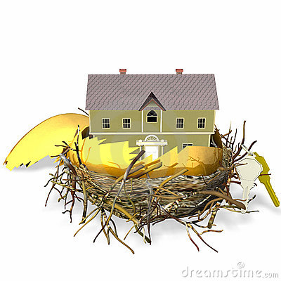 Free Real Estate Nest Egg Royalty Free Stock Photo - 495245