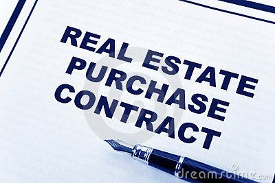 Real Estate Purchase Agreement on Real Estate Purchase Contract Royalty Free Stock Image   Image