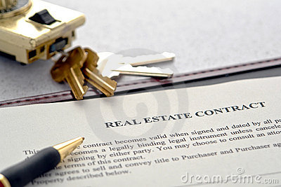Real Estate Sale Contract and Lock Box with Keys