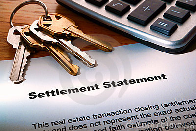 Real Estate Seller Settlement Statement and Keys
