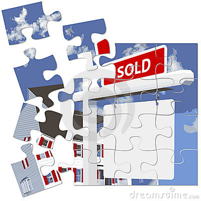 Free Real Estate SOLD Sign Puzzle Stock Photo - 2521680