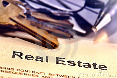 Real Estate Title Word on a Realtor Contract Page