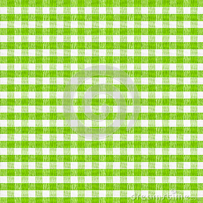 Real green checkered fabric tablecloth